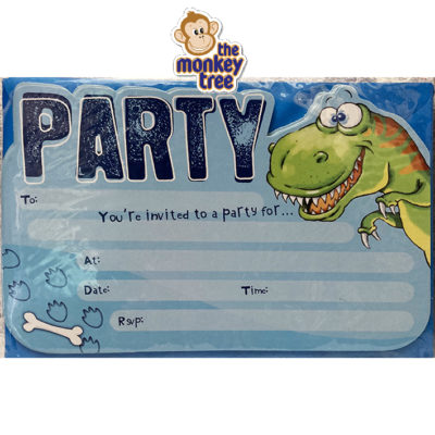 dinosaur party invites birthday t rex