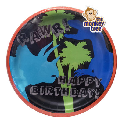 dinosaur birthday party plates t rex stegosaurus
