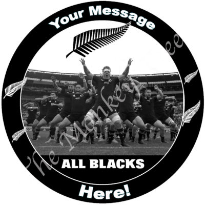 all blacks rugby edible cake image fondant cupcake 2020 sam cane Barrett