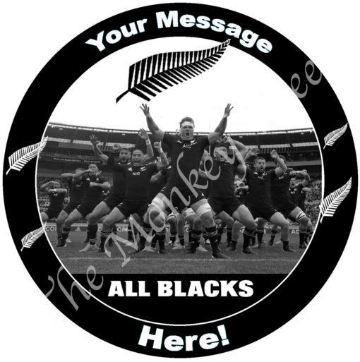 all blacks rugby edible cake image fondant cupcake 2020 sam cane Barrett