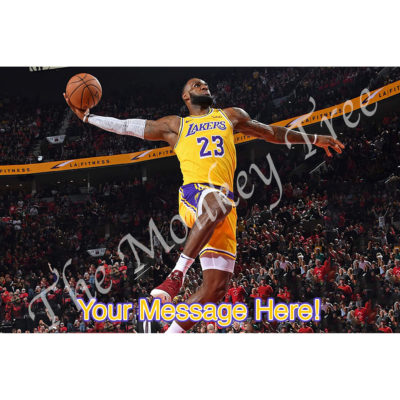 Lebrun James lakers basketball fondant edible cake topper