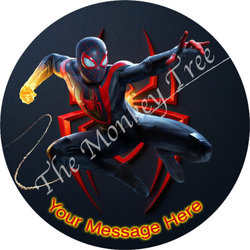 spiderman edible cake fondant icing image party superhero miles morale ps5