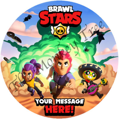 brawl stars edible cake image topper birthday fondant ps5