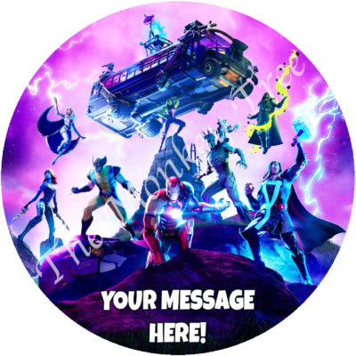fortnite chapter 2 season 4 edible cake image topper ps5 ps4 xbox