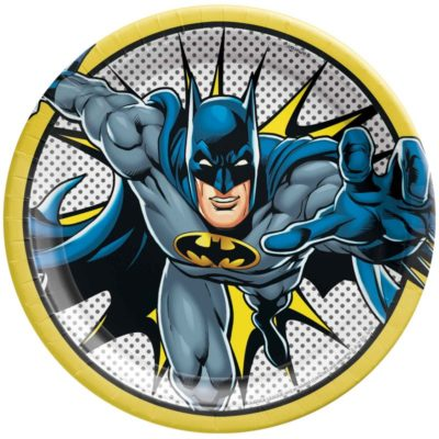 batman plate party birthday table superhero