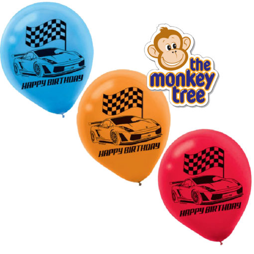 hot wheels balloons party speed racing birthday