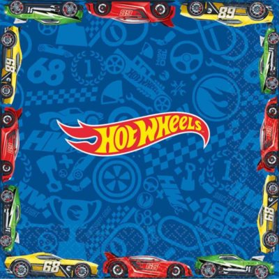 hot wheels party birthday table napkins speed