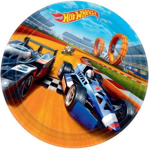 hot wheels paper plates birthday party speed