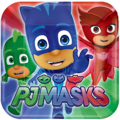 pj masks paper party plate birthday table