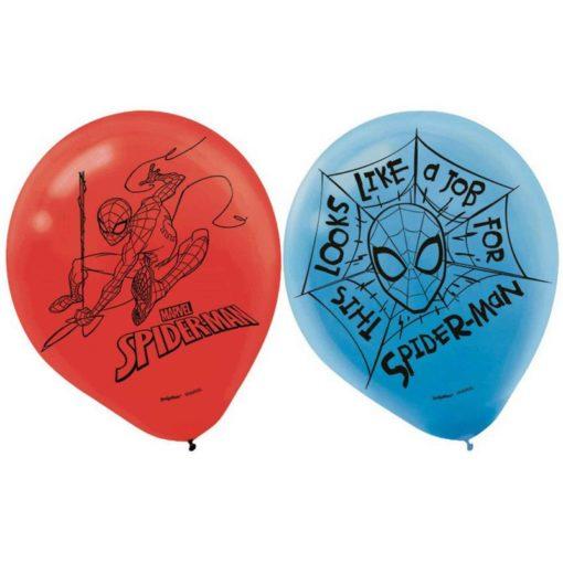 Spiderman helium balloons birthday superhero