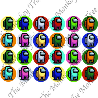 among us edible cupcake topper gaming fondant birthday