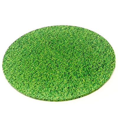 round masonite cake board grass pattern