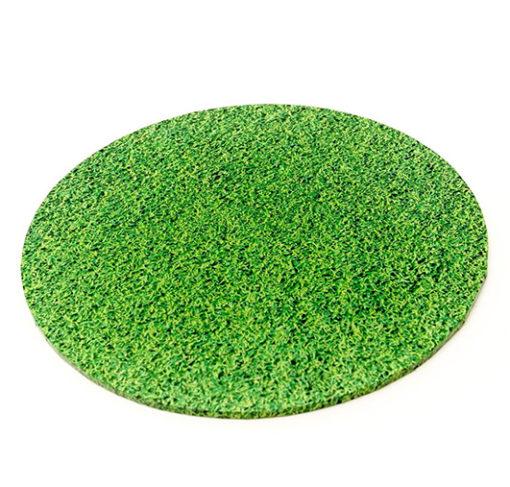 round masonite cake board grass pattern