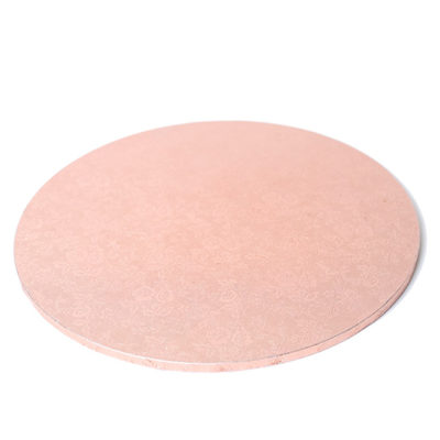rose gold round masonite cake board