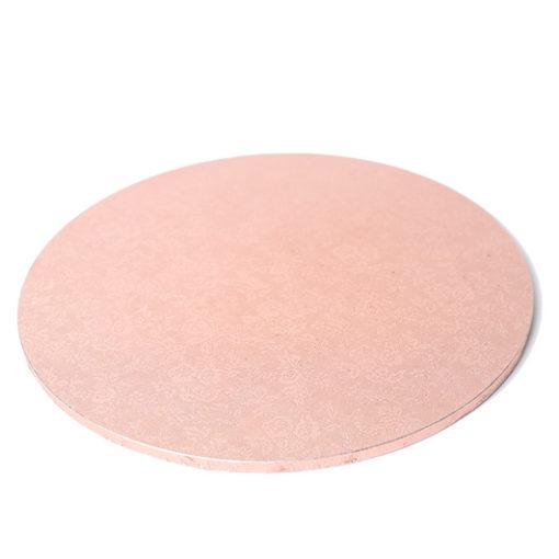 rose gold round masonite cake board