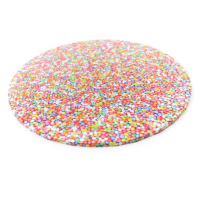 round masonite cake board sprinkles pattern