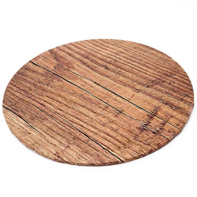 round masonite cake board wood pattern