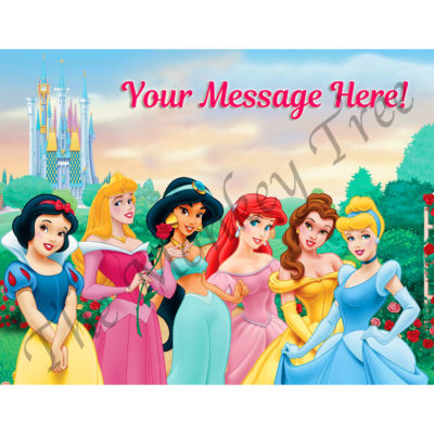 disney princess edible cake topper fondant birthday cake party