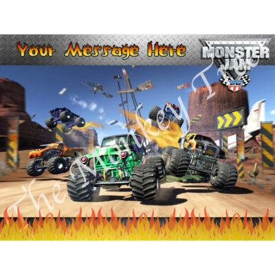 monster jam truck hot wheels edible cake image photo cars birthday party monster truck