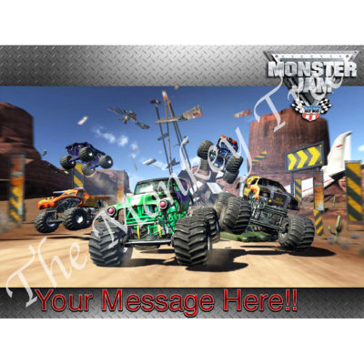 monster jam truck hot wheels edible cake image photo cars birthday party monster truck