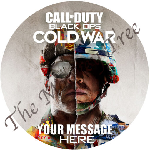 call of duty black ops cold war edible cake image birthday fondant