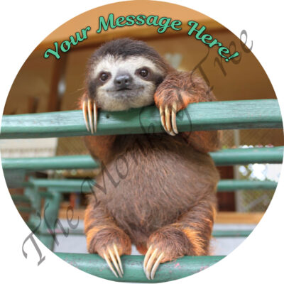 baby sloth edible cake image topper fondant birthday