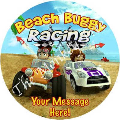 beach buggy racing edible cake topper fondant