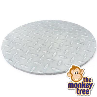 steel checker board patter cake board masonite